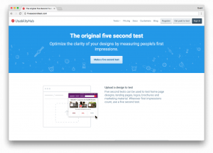 Five Second Test Sample - UsabilityHub