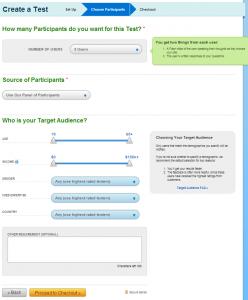 UserTesting Interface